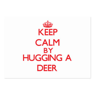 Keep calm by hugging a Deer Business Card Template