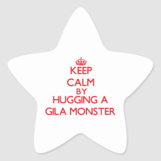 Keep calm by hugging a Gila Monster Sticker