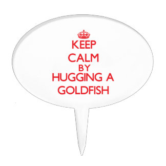 Keep calm by hugging a Goldfish Cake Pick