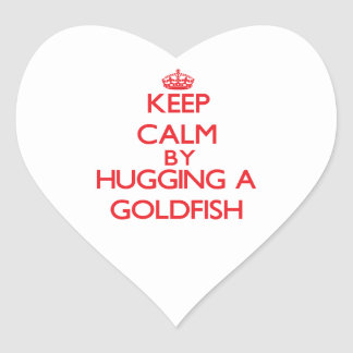 Keep calm by hugging a Goldfish Stickers