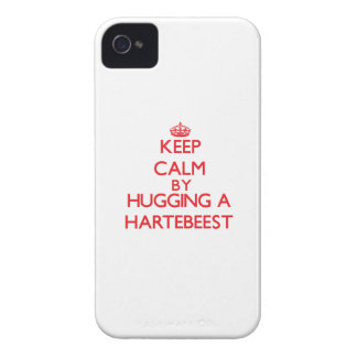 Keep calm by hugging a Hartebeest iPhone 4 Case-Mate Case