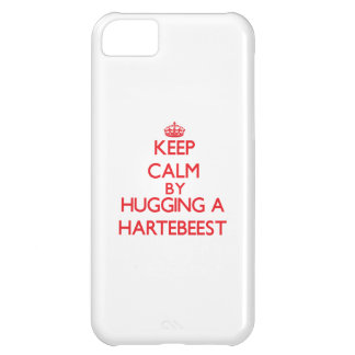 Keep calm by hugging a Hartebeest iPhone 5C Covers