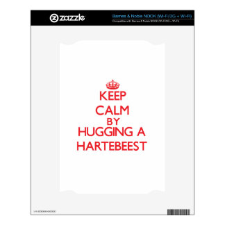 Keep calm by hugging a Hartebeest NOOK Decal