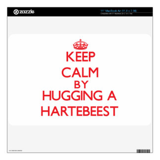 Keep calm by hugging a Hartebeest MacBook Air Decals