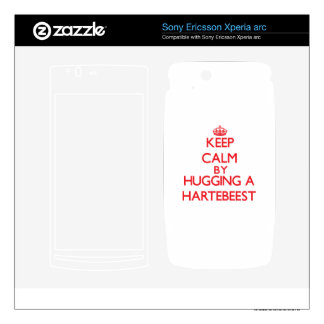 Keep calm by hugging a Hartebeest Xperia Arc Skins
