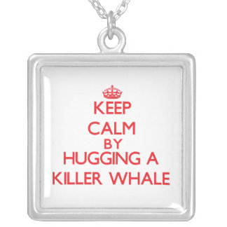 Keep calm by hugging a Killer Whale Necklace