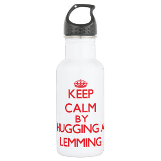 Keep calm by hugging a Lemming 18oz Water Bottle