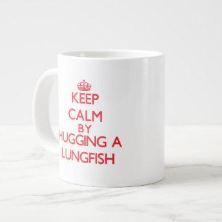 Keep calm by hugging a Lungfish Jumbo Mug