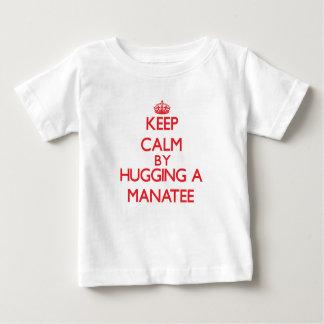 Keep calm by hugging a Manatee Shirt