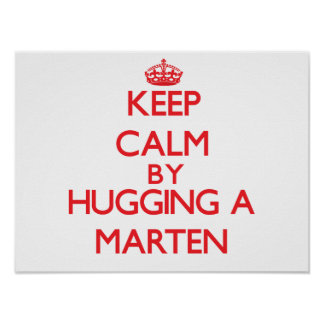 Keep calm by hugging a Marten Posters