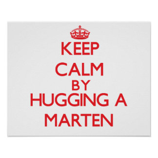 Keep calm by hugging a Marten Poster