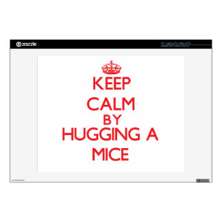 Keep calm by hugging a Mice Skin For Laptop