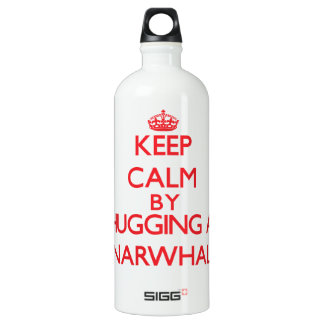 Keep calm by hugging a Narwhal SIGG Traveler 1.0L Water Bottle