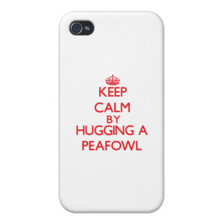 Keep calm by hugging a Peafowl iPhone 4/4S Cases