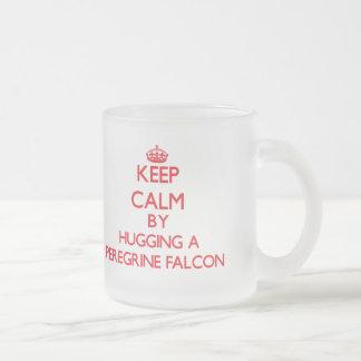 Keep calm by hugging a Peregrine Falcon Mugs