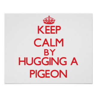 Keep calm by hugging a Pigeon Posters