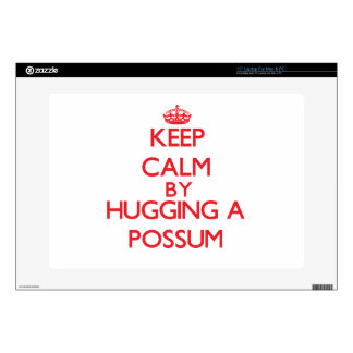 Keep calm by hugging a Possum Skin For Laptop