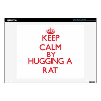 "Keep calm by hugging a Rat 14"" Laptop Skins"