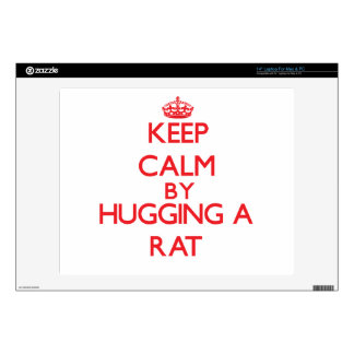 """Keep calm by hugging a Rat Decal For 14"""" Laptop"""