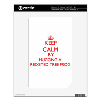 Keep calm by hugging a Red-Eyed Tree Frog NOOK Color Decals