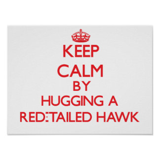 Keep calm by hugging a Red-Tailed Hawk Print