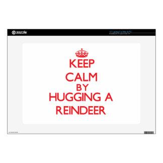 Keep calm by hugging a Reindeer Laptop Skin