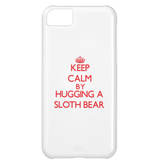 Keep calm by hugging a Sloth Bear Cover For iPhone 5C