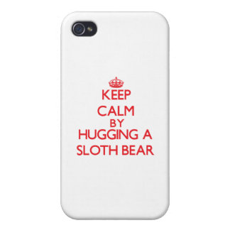 Keep calm by hugging a Sloth Bear Case For iPhone 4
