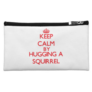 Keep calm by hugging a Squirrel Makeup Bags