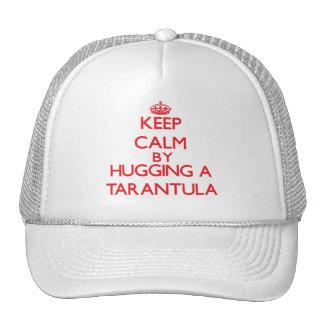 Keep calm by hugging a Tarantula Trucker Hat