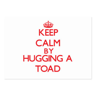 Keep calm by hugging a Toad Large Business Cards (Pack Of 100)