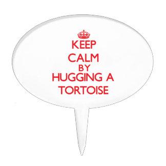 Keep calm by hugging a Tortoise Cake Pick