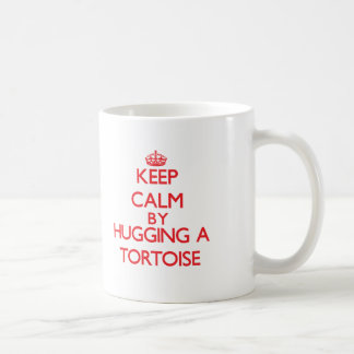 Keep calm by hugging a Tortoise Classic White Coffee Mug