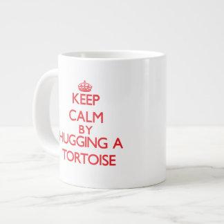Keep calm by hugging a Tortoise 20 Oz Large Ceramic Coffee Mug