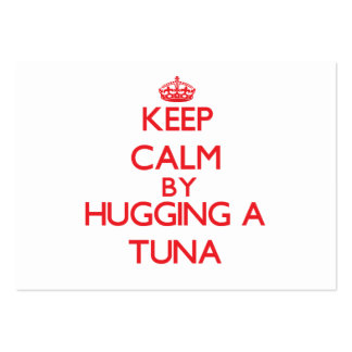 Keep calm by hugging a Tuna Business Card Template