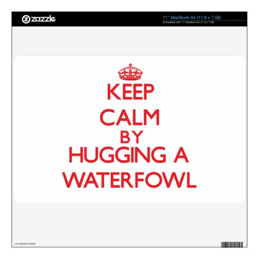 "Keep calm by hugging a Waterfowl 11"" MacBook Air Skins"