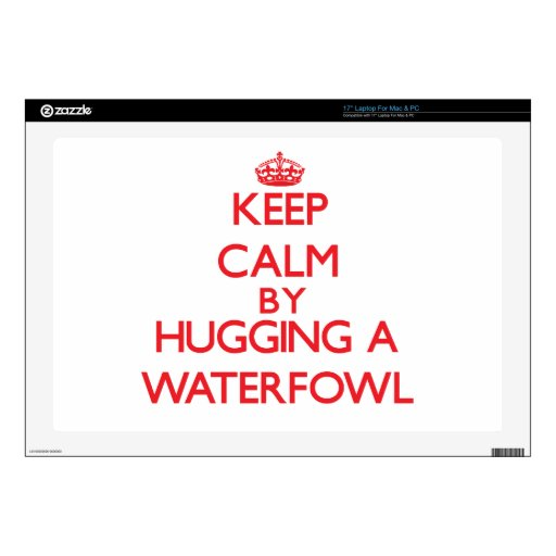 Keep calm by hugging a Waterfowl Laptop Decal