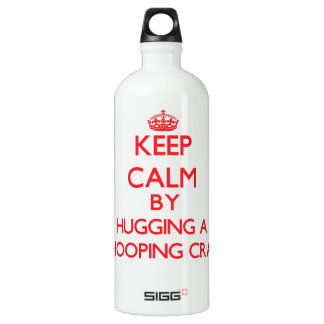 Keep calm by hugging a Whooping Crane SIGG Traveler 1.0L Water Bottle