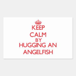 Keep calm by hugging an Angelfish Sticker