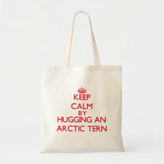 Keep calm by hugging an Arctic Tern Tote Bags