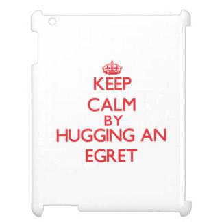 Keep calm by hugging an Egret iPad Case