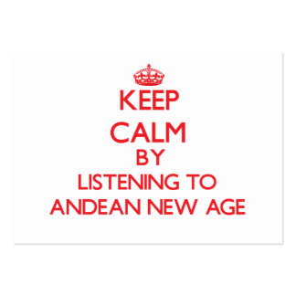 Keep calm by listening to ANDEAN NEW AGE Business Card Templates