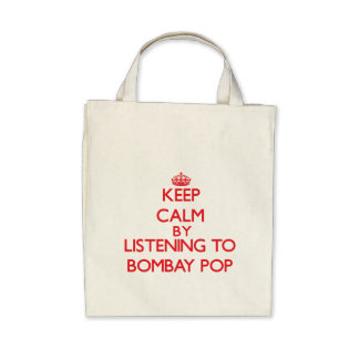 Keep calm by listening to BOMBAY POP Tote Bag