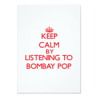 Keep calm by listening to BOMBAY POP Announcements