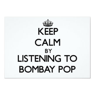Keep calm by listening to BOMBAY POP Cards
