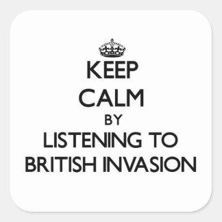 Keep calm by listening to BRITISH INVASION Sticker