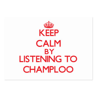 Keep calm by listening to CHAMPLOO Large Business Cards (Pack Of 100)