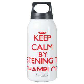 Keep calm by listening to CHAMPLOO 10 Oz Insulated SIGG Thermos Water Bottle