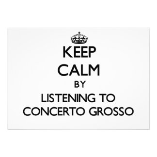 Keep calm by listening to CONCERTO GROSSO Cards