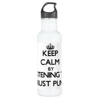 Keep calm by listening to CRUST PUNK 24oz Water Bottle